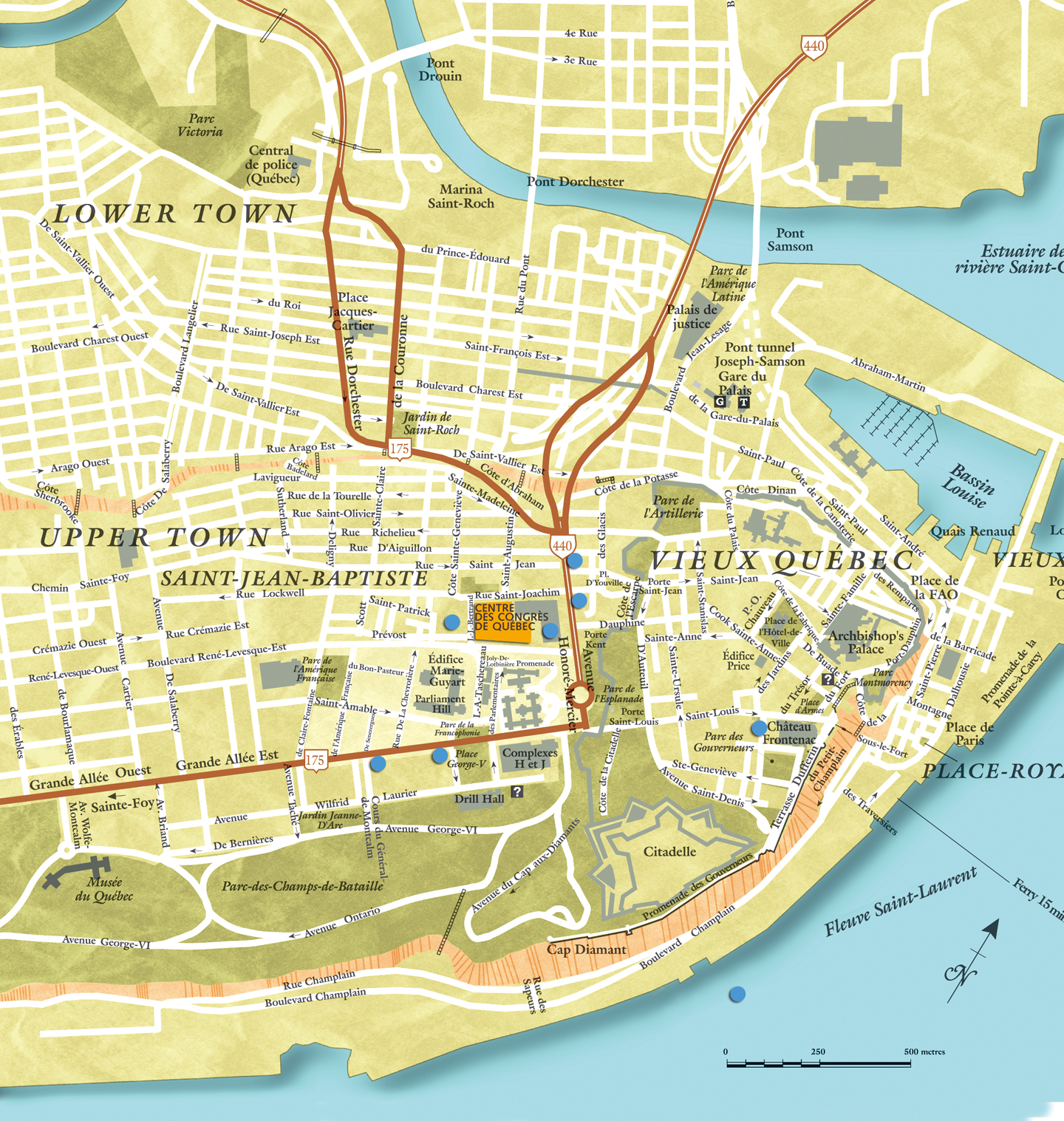 5th Annual Canadian Neuroscience Meeting – Tourist Map Of Quebec City